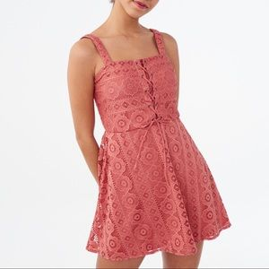 Aeropostale lace corset fit and flare dress